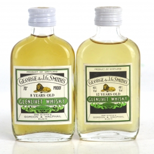 Glenlivet Gordon and MacPhail Selection 2 x Miniature