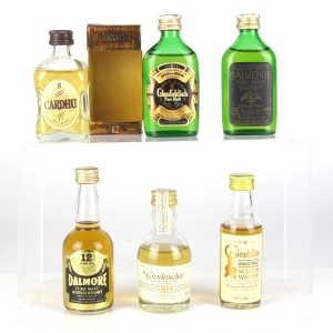Miscellaneous Single Malt Miniature Selection 6 x Miniatures