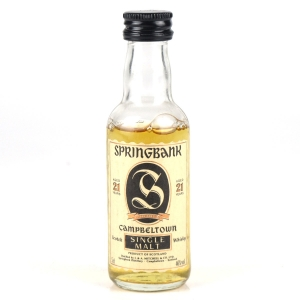Springbank 21 Year Old 1990s Miniature 5cl