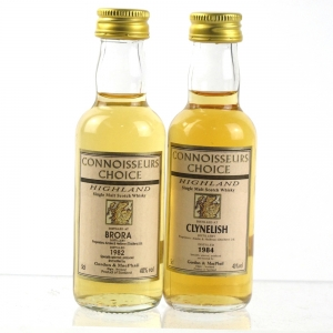 Brora 1982 and Clynelish 1984 Gordon and MacPhail Miniatures 2 x 5cl