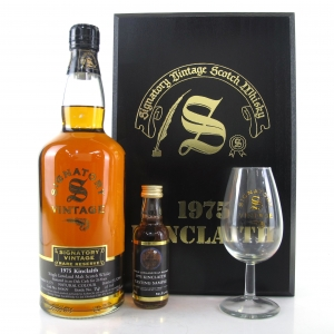 Kinclaith 1975 Signatory Vintage 26 Year Old / Including Miniature 5cl and Glass