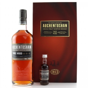 Auchentoshan Three Wood Gift Pack / includes Miniature 5cl