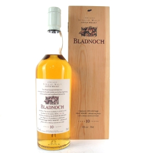 Bladnoch 10 Year Old Flora & Fauna White Cap / Wooden Box