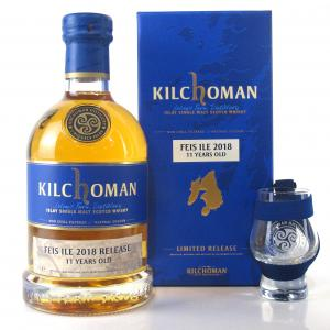 Kilchoman 2007 Bourbon Barrel 11 Year Old with Programme & Glass / Feis Ile 2018