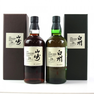 Yamazaki 25 Year Old and Hakushu 25 Year Old 2 x 70cl