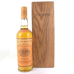 Glenmorangie 10 Year Old Signed by the 16 Men of Tain 2004 / Wooden Box
