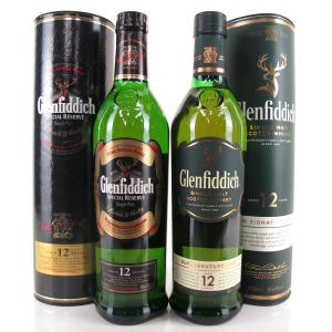 Glenfiddich 12 Year Old Special Reserve & Signature Malt 2 x 70cl