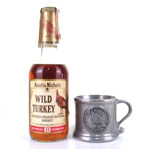 Wild Turkey 8 Year Old 101 Proof 37.5cl 1980s Gift Pack