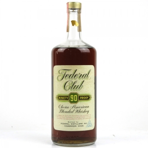 Federal Club 90 Proof 6 Year Old American Whiskey 1970s 40 Oz / 1 UK Quart