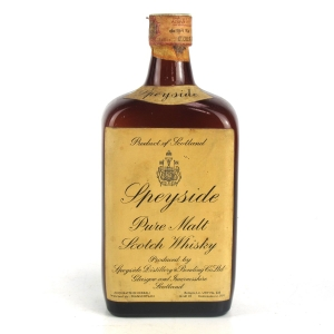 Speyside Pure Malt Scotch Whisky 1960s