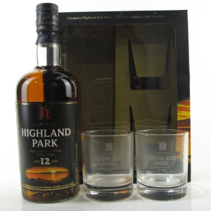 Highland Park 12 Year Old Gift Pack / including Glasses