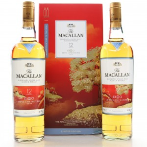 Macallan 12 Year Old Triple Cask 2 x 70cl / Year of the Dog
