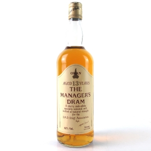 Oban 13 Year Old Manager's Dram 1990