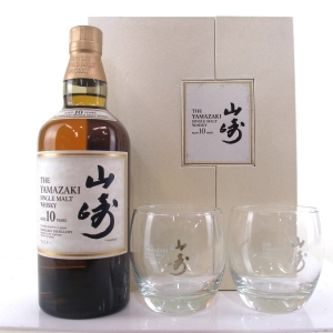 Yamazaki 10 Year Old Gift Pack / Including Two Branded Glasses