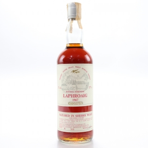 Laphroaig 1967 Samaroli 15 Year Old Sherry Wood / Silver Cap
