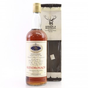 Glendronach 1959/1960 Gordon and MacPhail Royal Marriage 1986