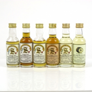 Assorted Closed Distillery Single Malts Signatory Vintage 6 x 5cl