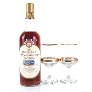 Macallan 1948-1961 Royal Marriage / Including 2 x Glasses