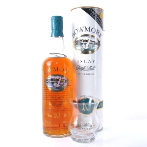 Bowmore 10 Year Old Screen Print 1980s / Including Glass