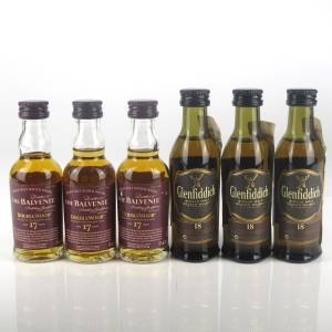 Miscellaneous Speyside Single Malts 6 x 5cl Miniatures