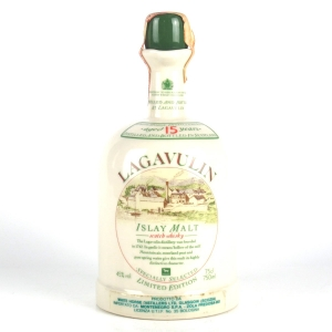 Lagavulin 15 Year Old Ceramic Decanter 1980s