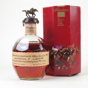 Blanton's Single Barrel Bourbon Dumper 1999 / Damaged Seal