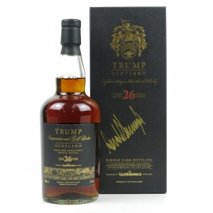 Glendronach 26 Year Old Trump International Scotland / Signed by President of the United States of America, Donald J. Trump