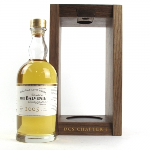 *PIC OF BOTTLE IN WOOD BOX Balvenie 2005 DCS Compendium 9 Years Old Chapter #1