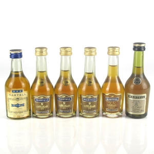 Miscellaneous Martell Cognac Miniatures 6 x 5cl