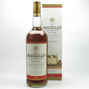 Macallan 10 Year Old Cask Strength 1990s 1 Litre