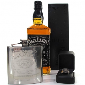 Jack Daniel's Old No.7 / Including Inner Circle Ring and Hip Flask