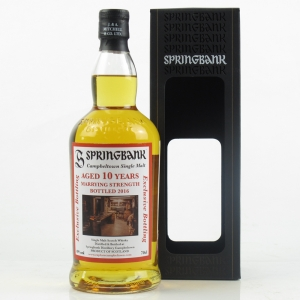 Springbank 10 Year Old Marrying Strength 2016 Release