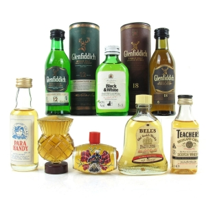 Miscellaneous Whiskey Miniature Selection 8 x 5cl