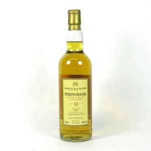 Springbank 1991 Fortnum and Mason 13 Year Old front