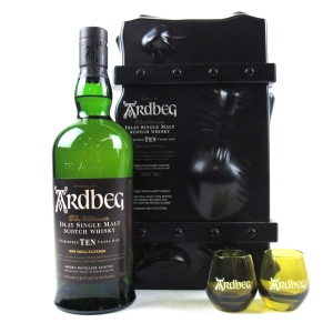 Ardbeg 10 Year Old Gift Pack / Including 2 x Glasses