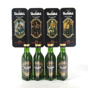 Glenfiddich Clans of the Highlands Miniatures 4 x 5cl