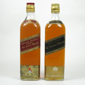 Johnnie Walker Black and Red Label 1970s