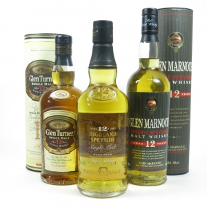 Miscellaneous Single Malt Whiskies 3 x 70cl Front