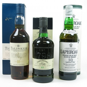 Miscellaneous Island Single Malt Selection 3x 70cl