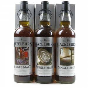 Hazelburn 8 Year Old First Edition Collection 3 x 70cl