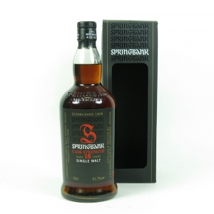 Springbank 15 Year Old Cask Strength (Signed) front