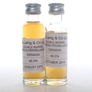 Double Barrel Ardbeg / Craigellachie Douglas Laing 2 x 2cl Sample
