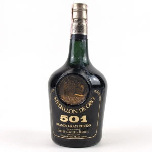 Medallon De Oro 501 Gran Reserva Brandy / Bottled 1972