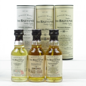 Balvenie Miniature Selection 3 x 5cl / Including Single Barrel 15 Year Old