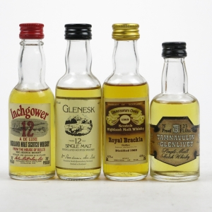 Miscellaneous Single Malt Selection / 4 x Miniatures