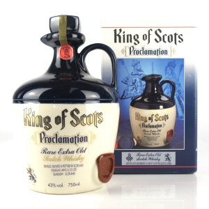 King of Scots Proclamation Decanter 1980s