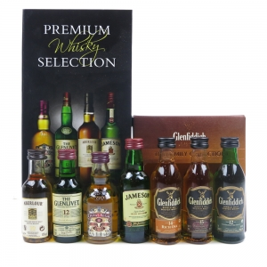 Premium Whisky Selection and Glenfiddich Family Collection 7 x 5cl