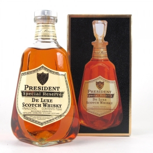 President Special Reserve 12 Year Old 1980s Decanter