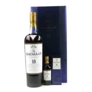 Macallan 1991 18 Year Old Gift Set 70cl and 5cl