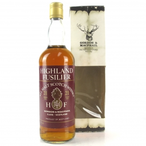 Highland Fusilier 21 Year Old All Malt 1980s
